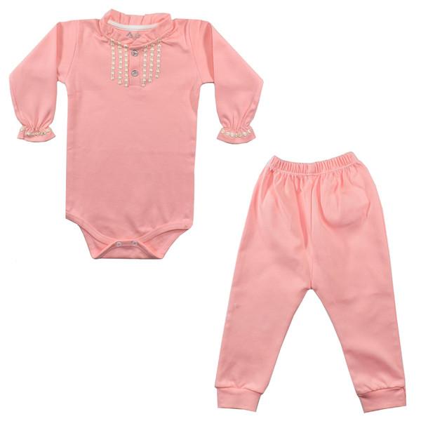 ست بادی و شلوار نوزادی نیروان کد PR-1