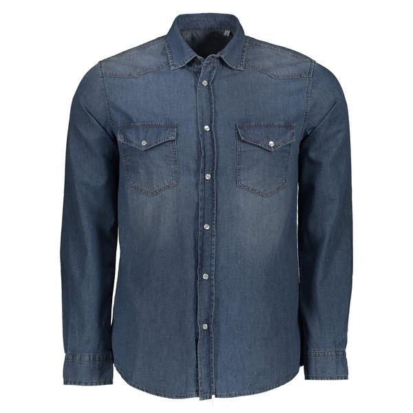 پیراهن مردانه سیاوود کد 6220201 رنگ سرمه ای