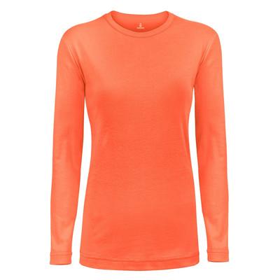 تی شرت آستین بلند زنانه ساروک مدل SZYUFR04 رنگ نارنجی