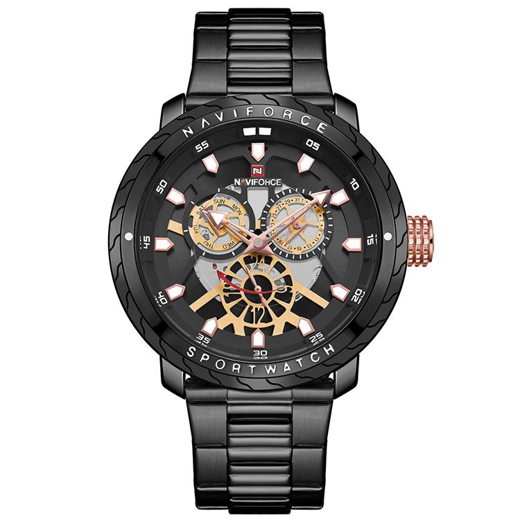 کد تخفیف                                      ساعت مچی عقربه ای مردانه نیوی فورس مدل NF9158 BB