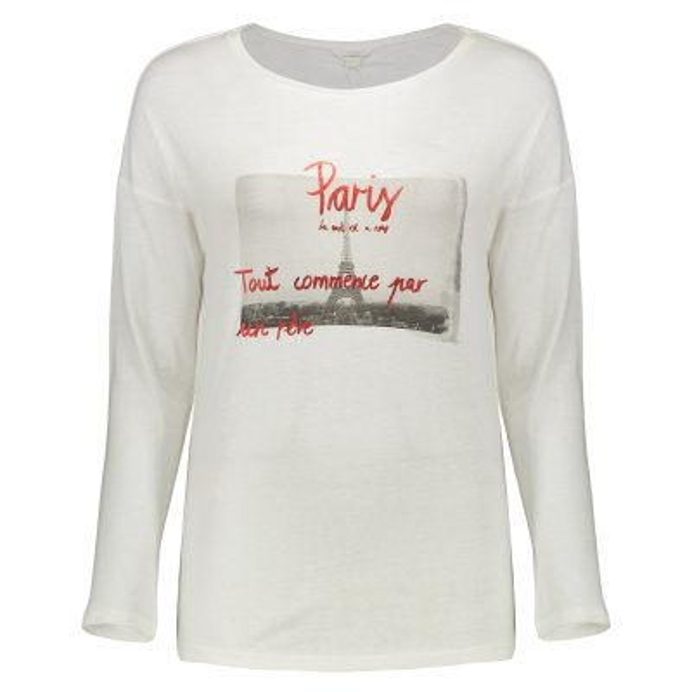 تی شرت زنانه اسپرینگ فیلد مدل 0074578-WHITE
