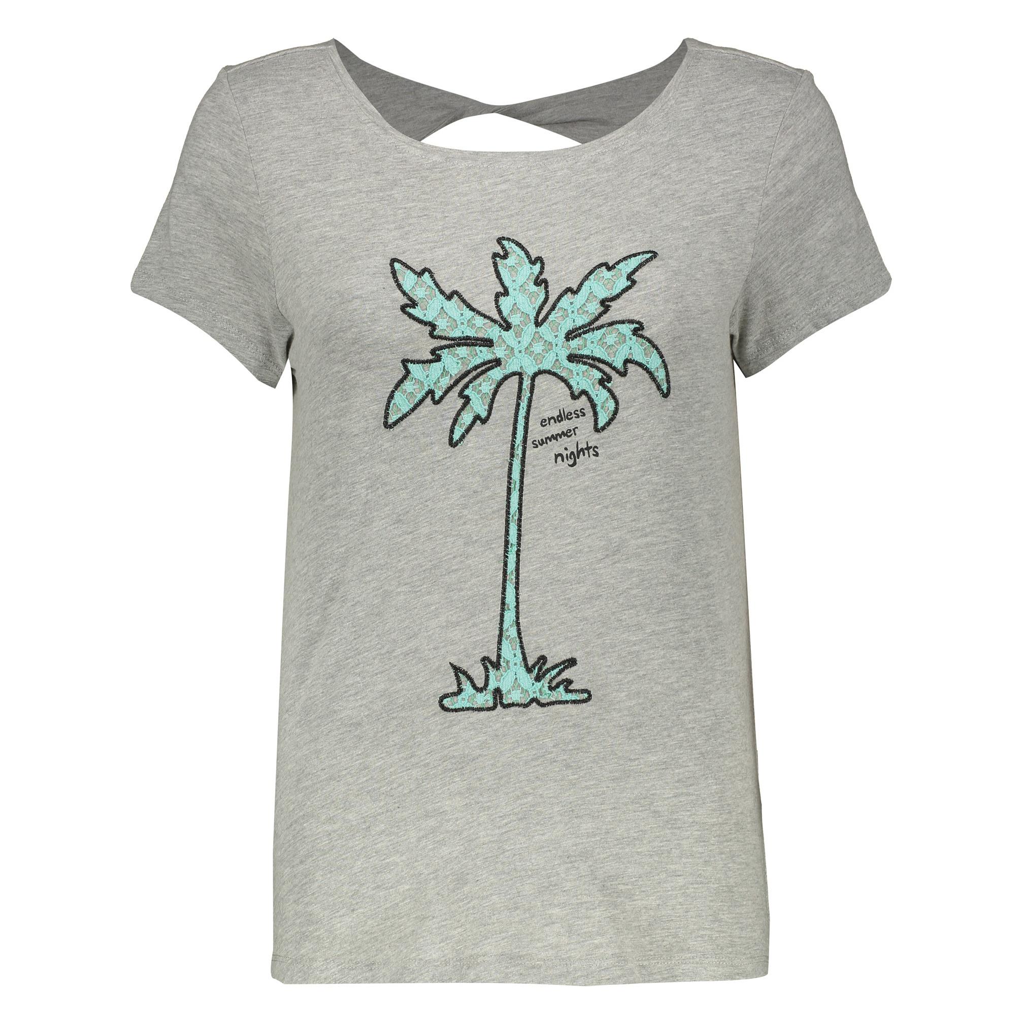 تی شرت نه اسپرینگ فیلد مدل 1383027-GREYS