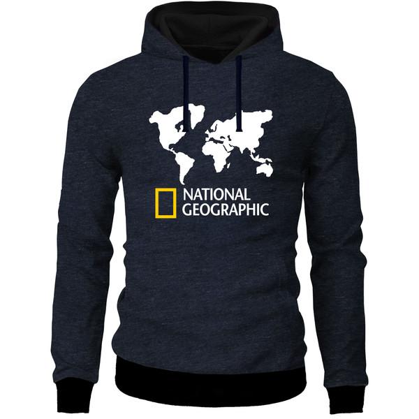 هودی مردانه طرح National geographic کد M08 رنگ سرمه ای