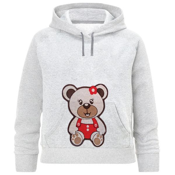 هودی دخترانه طرح خرس و گل کد F108