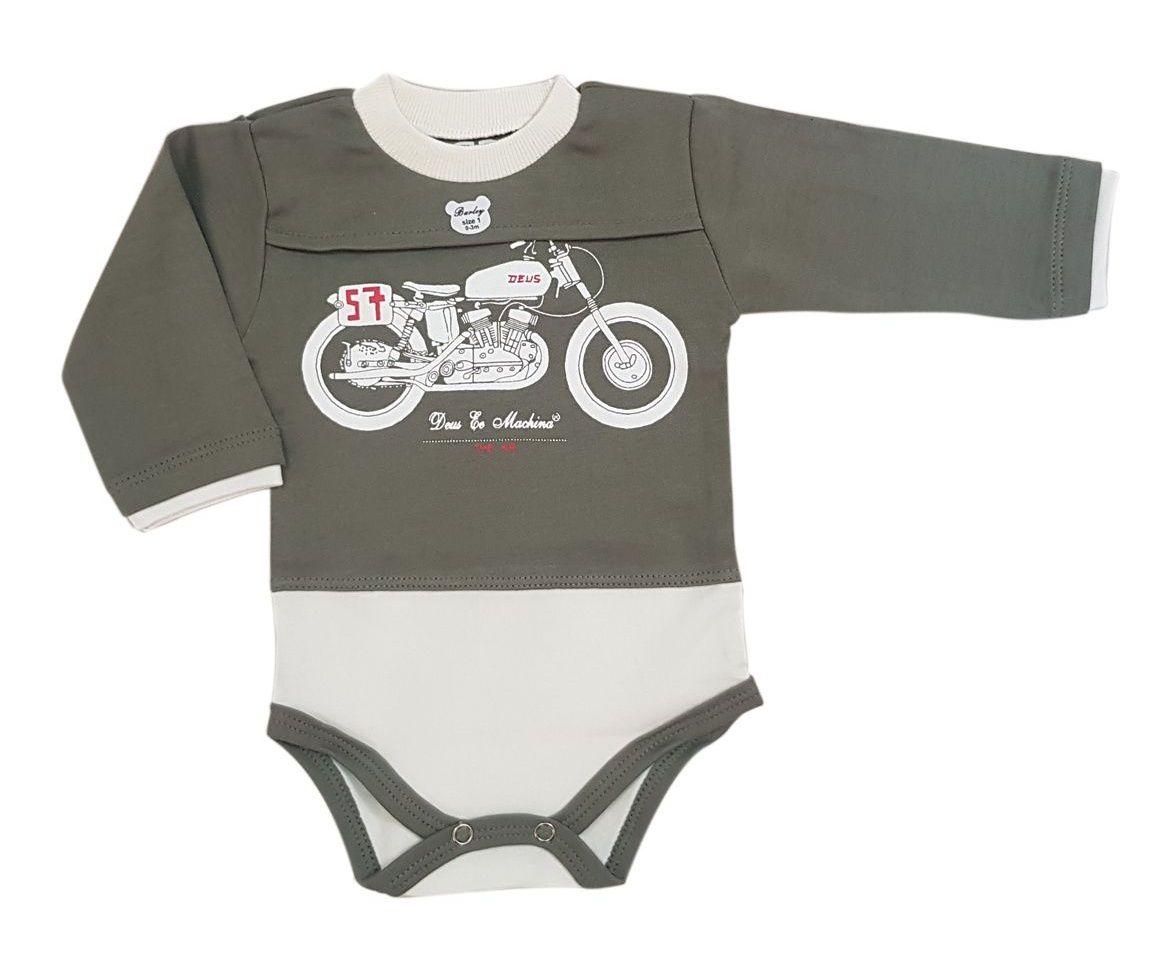 ست بادی و شلوار نوزادی پسرانه طرح موتور -  - 3
