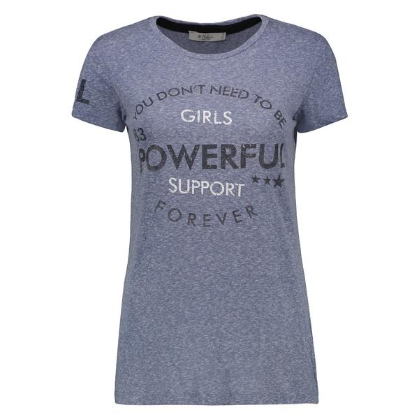تی شرت زنانه کالینز مدل CL1032823-BLUE MELANGE