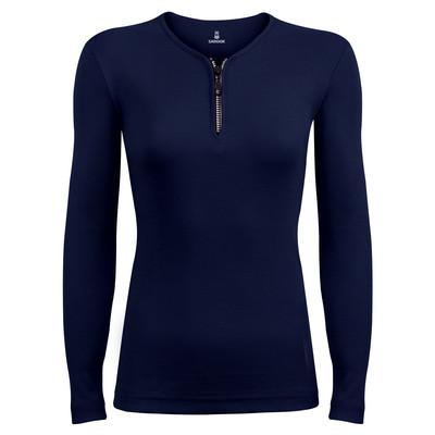 تی شرت آستین بلند زنانه ساروک مدل SZZiPDFR04 رنگ سرمه ای