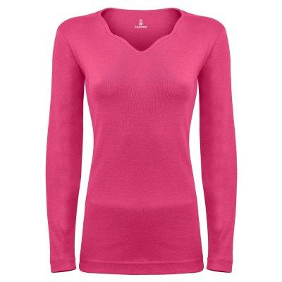 تی شرت آستین بلند زنانه ساروک مدل SZYDelFR05 رنگ سرخابی