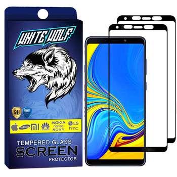 محافظ صفحه نمایش وایت ولف مدل WGF مناسب برای گوشی موبایل سامسونگ Galaxy A9 2018  بسته 2 عددی