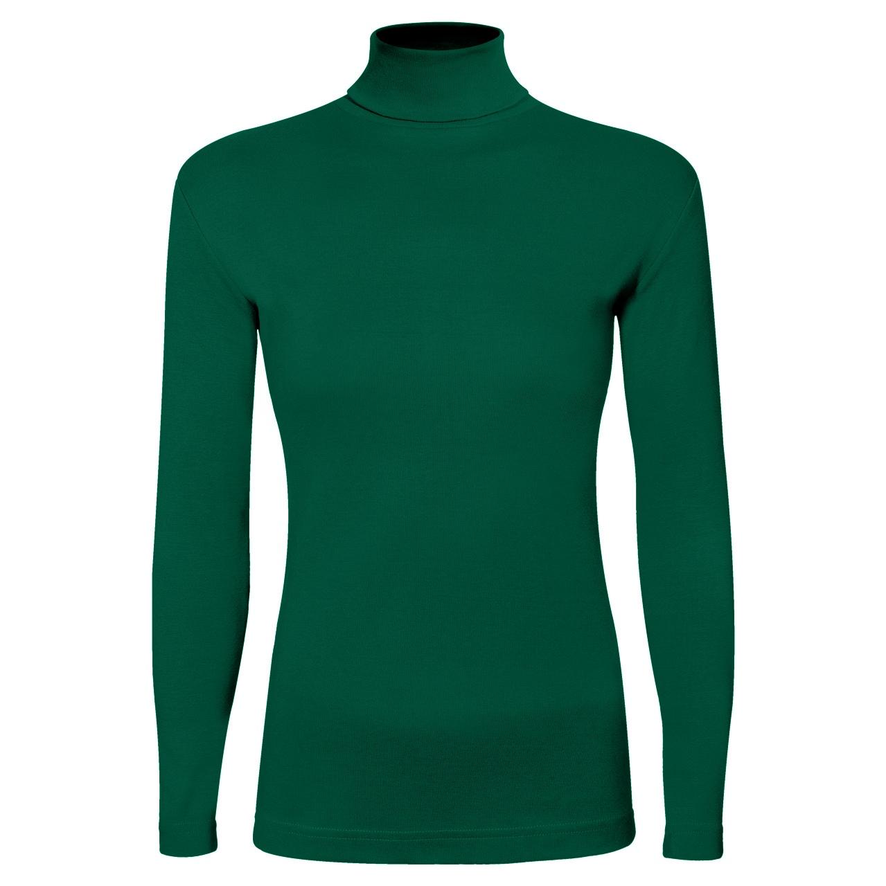 تی شرت آستین بلند زنانه ساروک مدل BZYeski010 رنگ یشمی