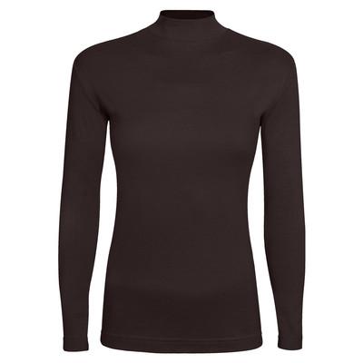 تی شرت آستین بلند زنانه ساروک مدل SZY5C13 رنگ قهوه ای