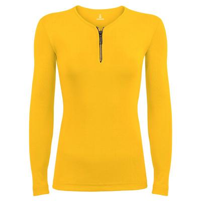 تصویر تی شرت آستین بلند زنانه ساروک مدل SZDFR11 رنگ زرد