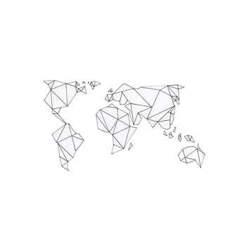 استیکر لپ تاپ لولو طرح نقشه جهان کد 93