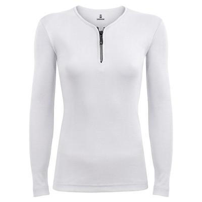 تی شرت آستین بلند زنانه ساروک مدل SZZiPDFR10 رنگ سفید