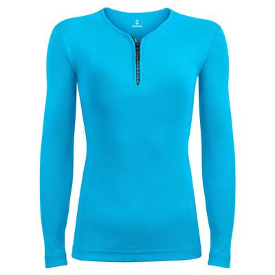 تی شرت آستین بلند زنانه ساروک مدل SZDFR01 رنگ فیروزه ای