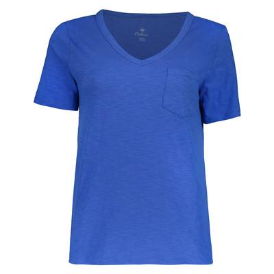 تی شرت زنانه کالینز مدل CL1034536-SAX BLUE