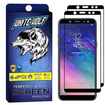محافظ صفحه نمایش وایت ولف مدل WGF مناسب برای گوشی موبایل سامسونگ Galaxy A6 2018   بسته 2 عددی
