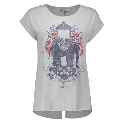 تی شرت زنانه کالینز مدل CL1033142-LIGHT BLUE