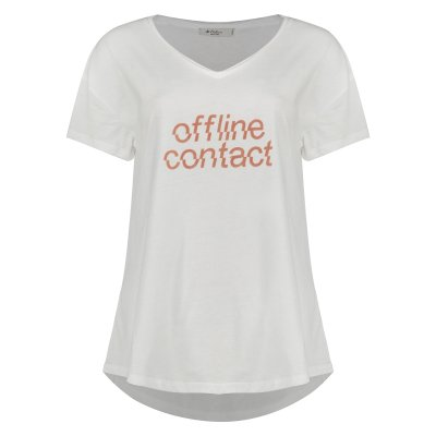 تی شرت زنانه کالینز مدل CL1032838-WHITE
