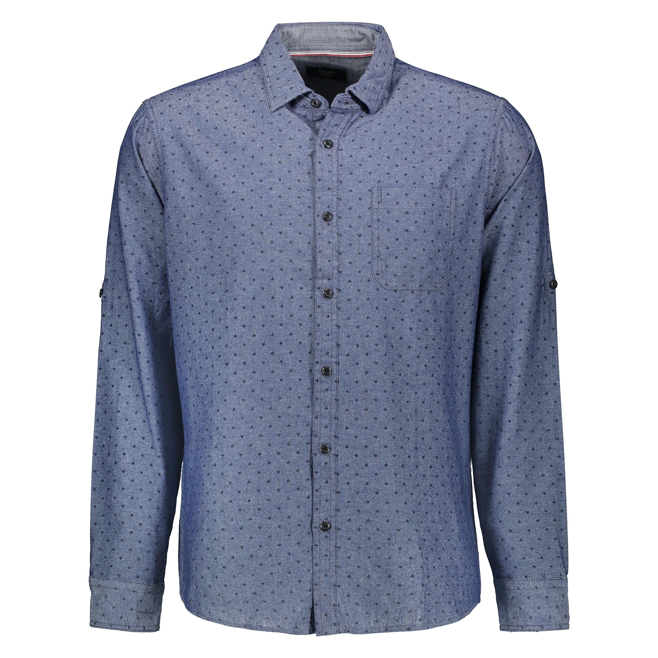 پیراهن مردانه کالینز مدل CL1028295-INDIGO