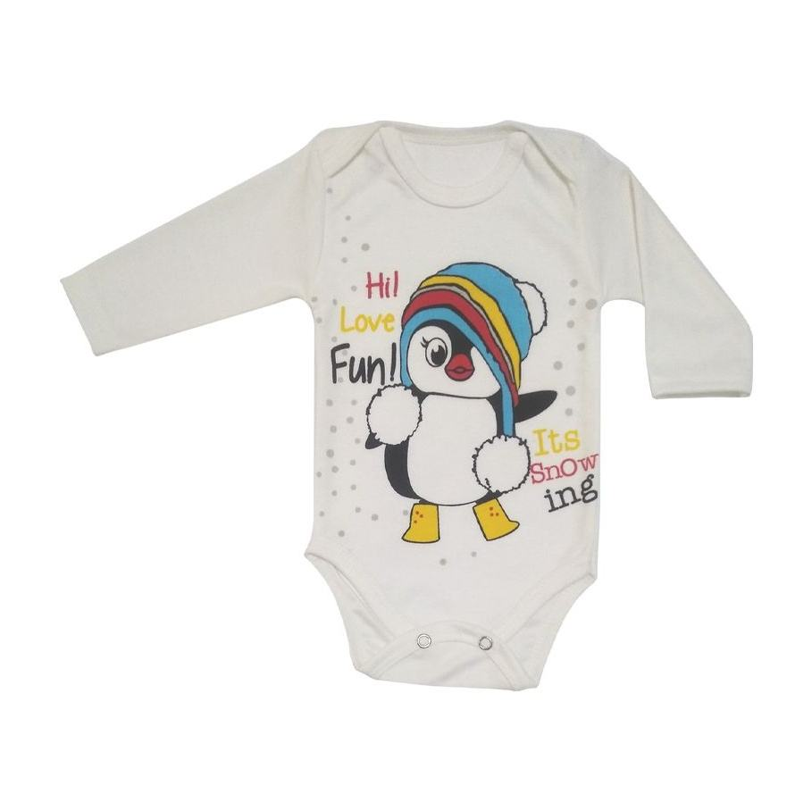 ست 3 تکه لباس نوزادی طرح پنگوئن کد M132 -  - 3