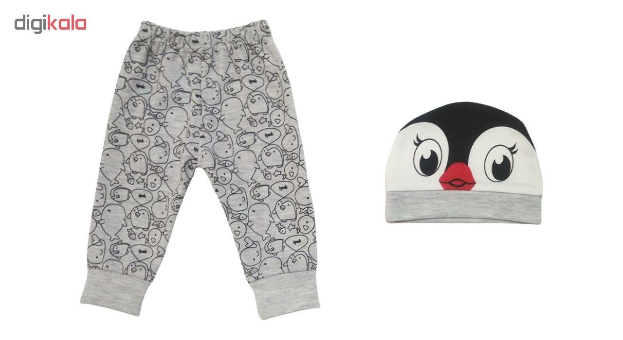 ست 3 تکه لباس نوزادی طرح پنگوئن کد M132 -  - 4