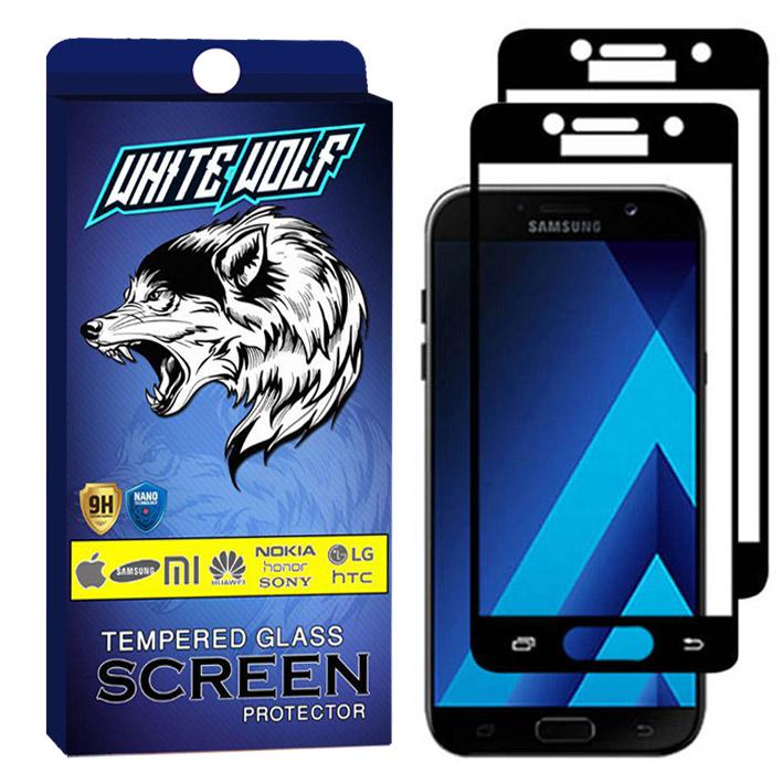 محافظ صفحه نمایش وایت ولف مدل WGF مناسب برای گوشی موبایل سامسونگ Galaxy A7 2017   بسته 2 عددی