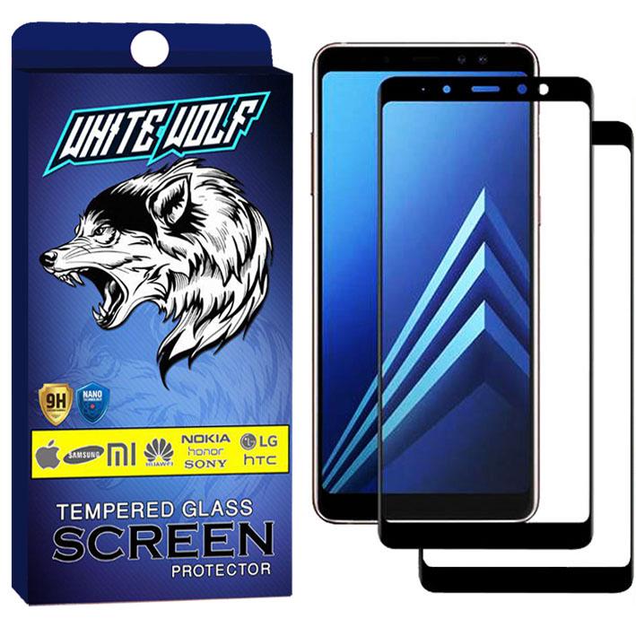 محافظ صفحه نمایش وایت ولف مدل WGF مناسب برای گوشی موبایل سامسونگ Galaxy A8 Plus 2018  بسته 2 عددی