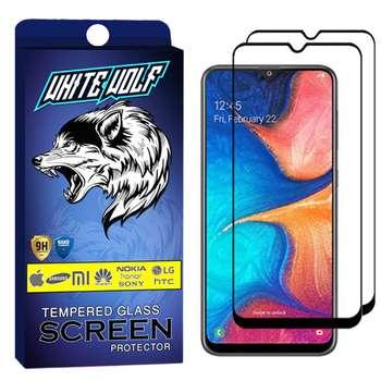 محافظ صفحه نمایش وایت ولف مدل WGF مناسب برای گوشی موبایل سامسونگ Galaxy A20   بسته 2 عددی