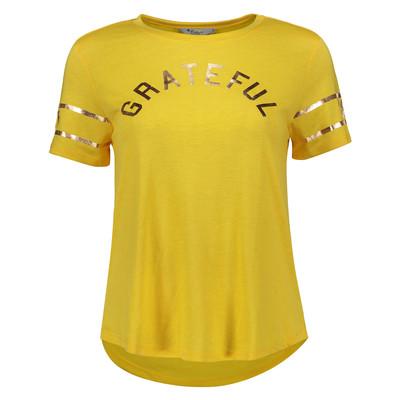 تی شرت زنانه کالینز مدل CL1034455-MUSTARD YELLOW