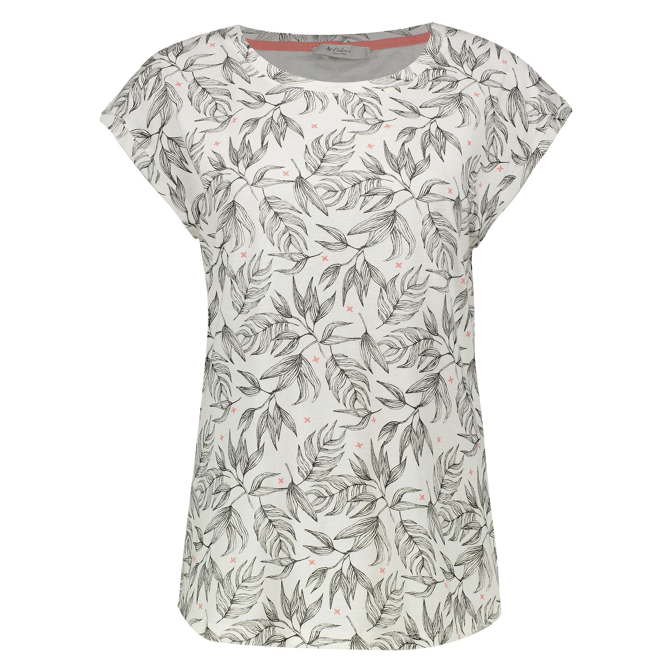 تصویر تی شرت زنانه کالینز مدل  CL1032905-OFF WHITE