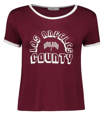 تی شرت زنانه کالینز مدل CL1032875-BORDEAUX