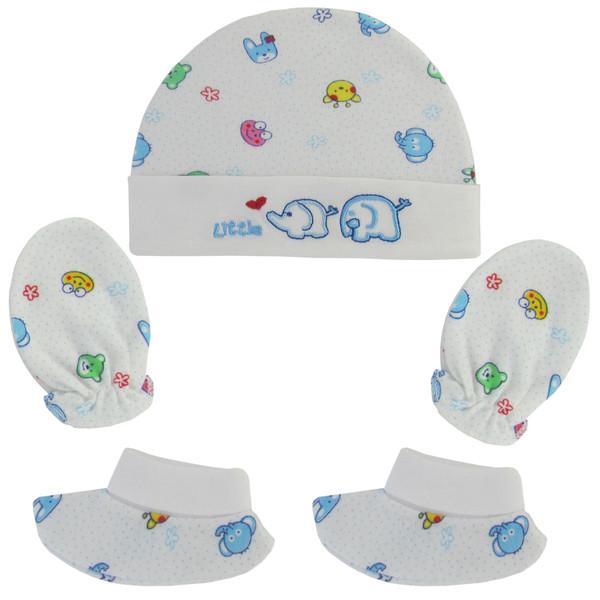ست 3 تکه لباس نوزادی طرح فیل