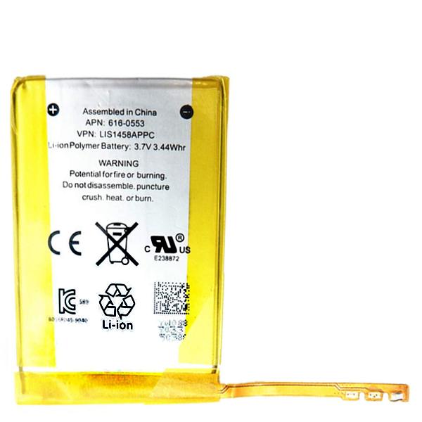 باتری لیتیوم مدل 616-0553 ظرفیت 344 میلی آمپر ساعت مناسب برای پخش کننده موسیقی اپل iPod Touch 4th