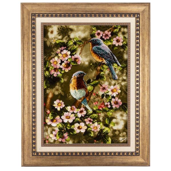 تابلو فرش دستباف سی پرشیا طرح پرندگان در بهار کد 901818