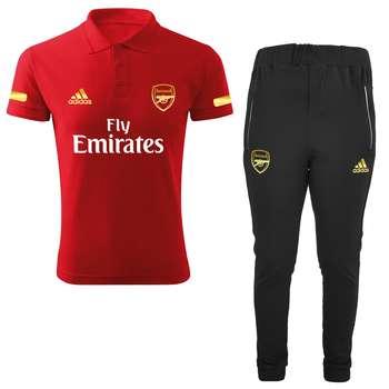 ست پولوشرت و شلوار ورزشی مردانه طرح آرسنال کد RS2021 رنگ قرمز