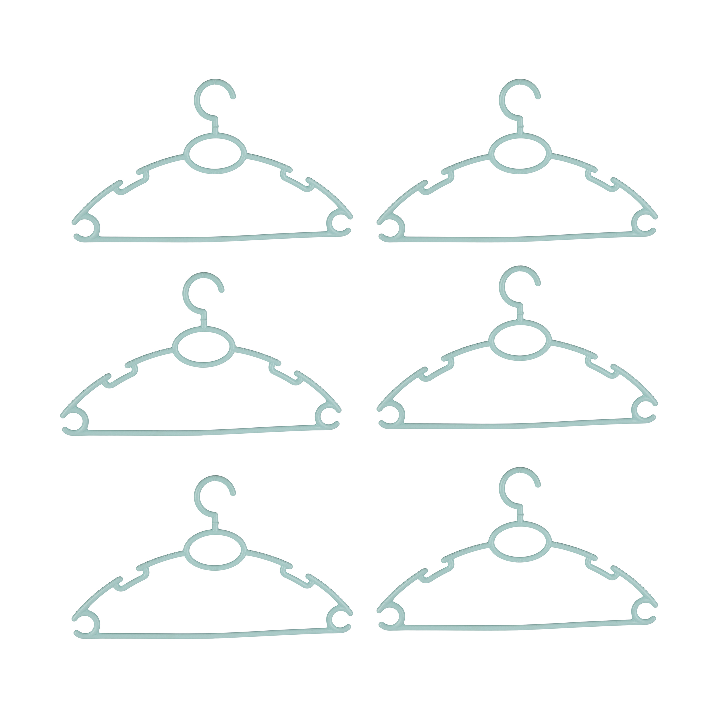 چوب لباسی مشکات کد 084 بسته 6 عددی
