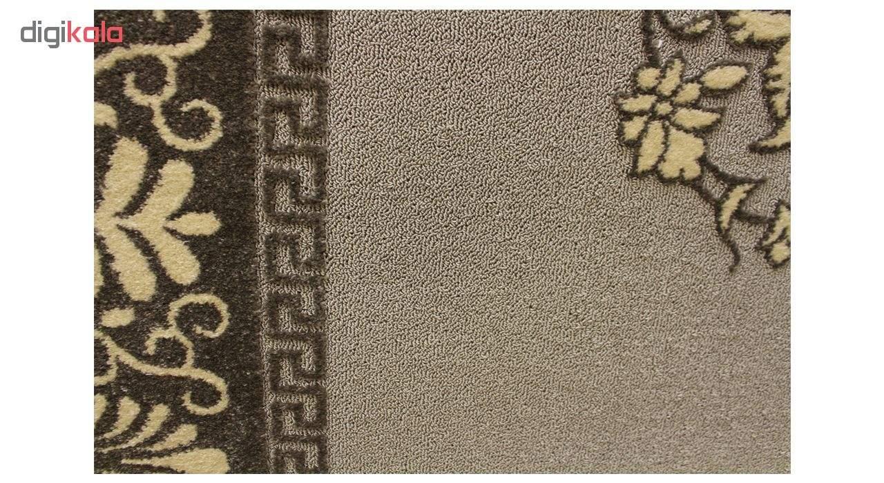 فرش ماشینی ساوین کد 7403 زمینه طوسی main 1 2