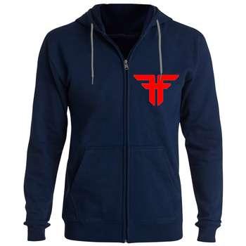 سویشرت مردانه طرح FF کد FG116 رنگ سرمه ای