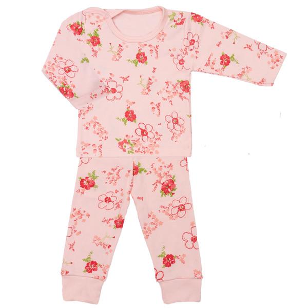 ست تیشرت و شلوار نوزادی دخترانه طرح پر گل