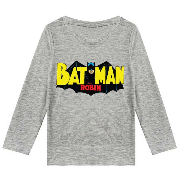 تیشرت آستین بلند پسرانه طرح bat man کد F06