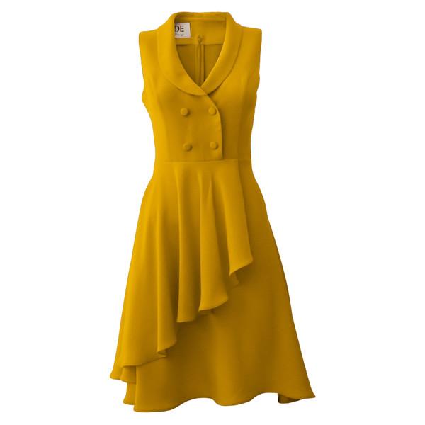پیراهن زنانه درس ایگو کد 1010018 رنگ خردلی