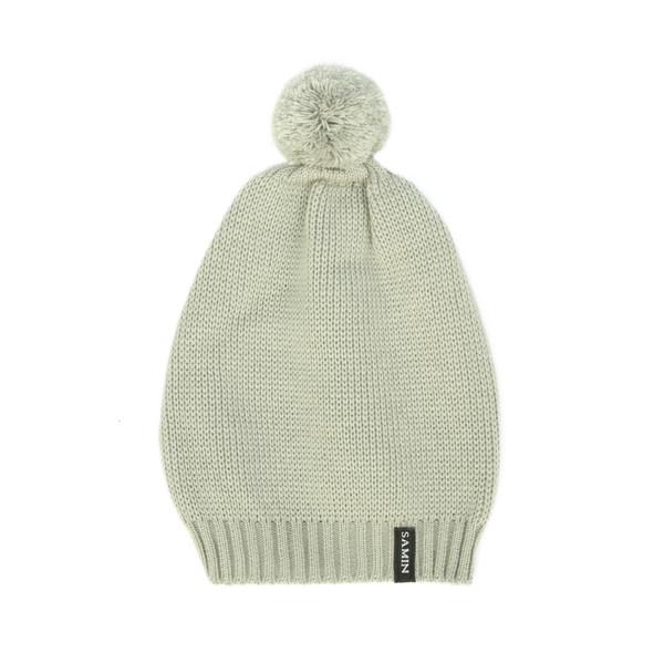 کلاه بافتنی ثمین مدل Dellenia رنگ خاکستری