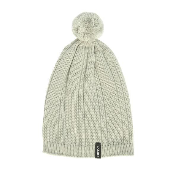 کلاه بافتنی ثمین مدل Rozhbin رنگ خاکستری