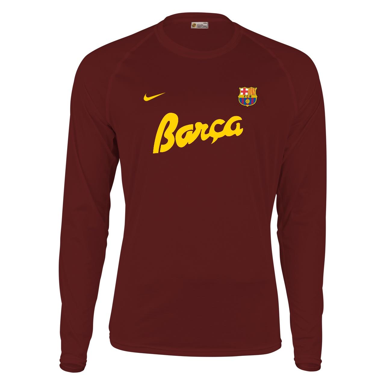 تیشرت آستین بلند مردانه طرح بارسلونا کد 330750