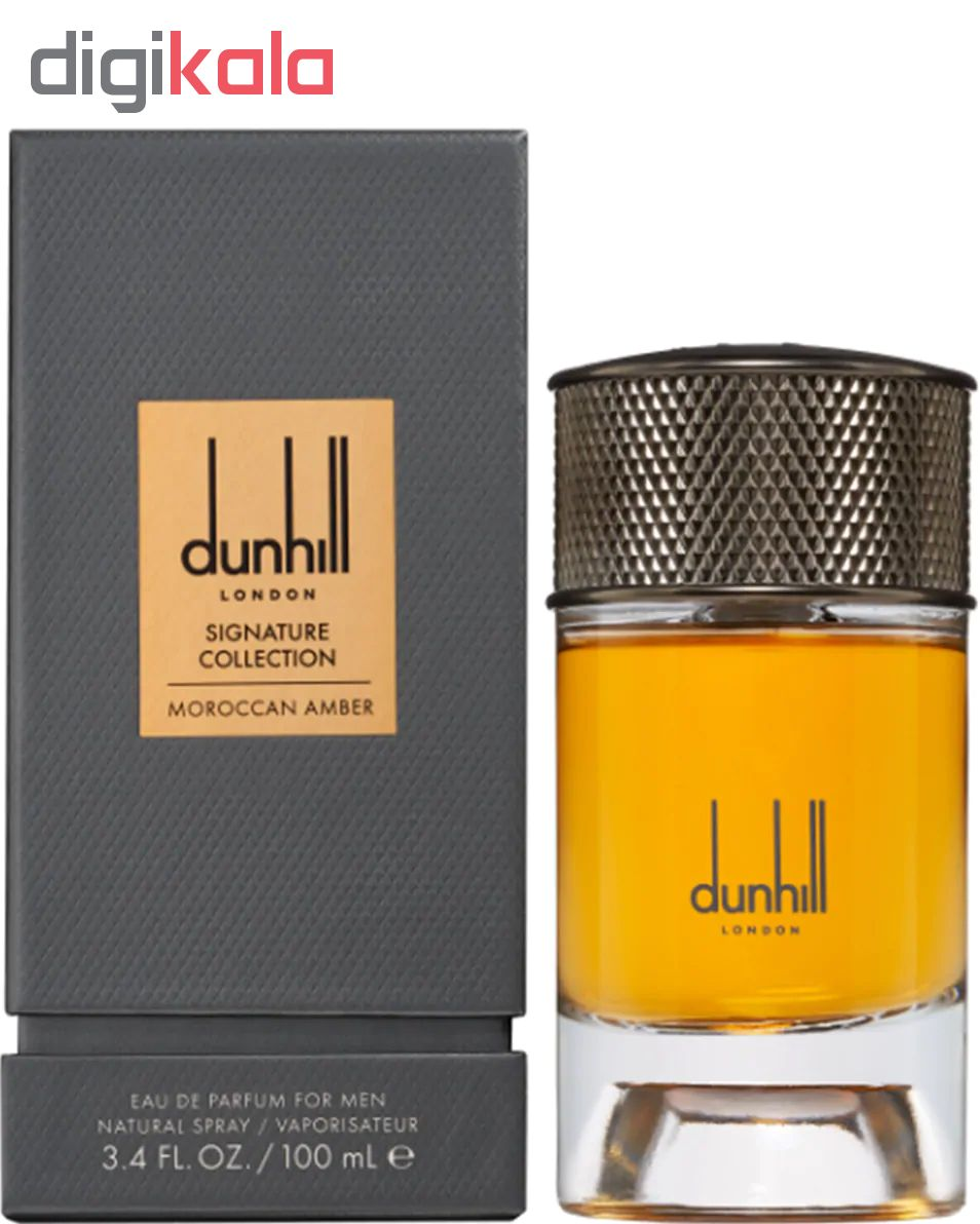 خرید اینترنتی ادو پرفیوم مردانه دانهیل مدل Signature Collection Moroccan Amber حجم 100 میلی لیتر اورجینال