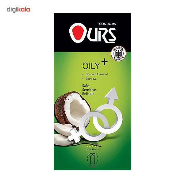 کاندوم ساده اورز مدل Oily Plus بسته 12 عددی