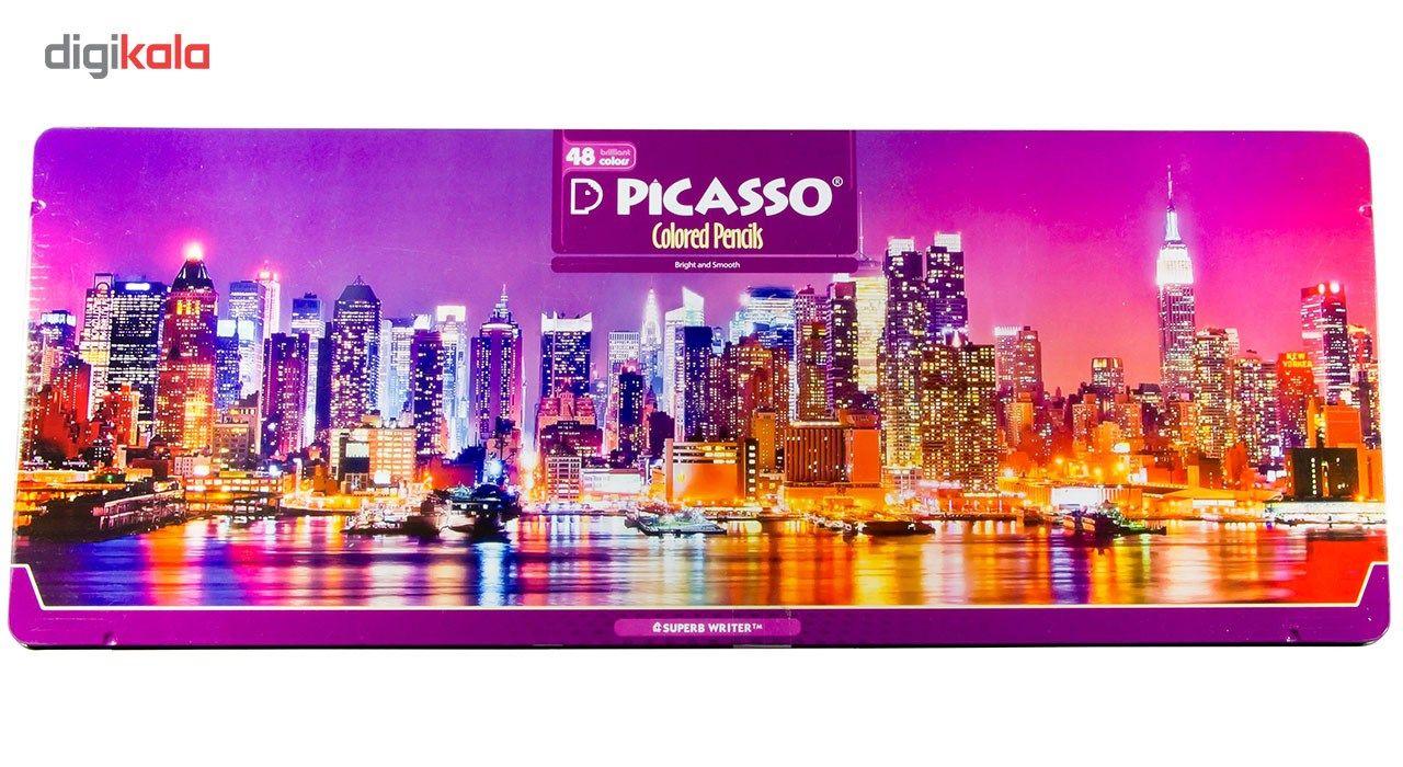 مداد رنگی 48 رنگ پیکاسو مدل Superb Writer طرح نیویورک main 1 1