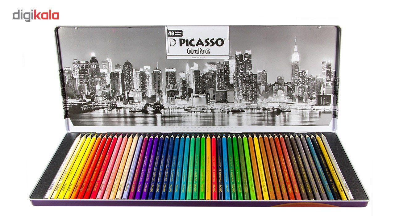 مداد رنگی 48 رنگ پیکاسو مدل Superb Writer طرح نیویورک main 1 2