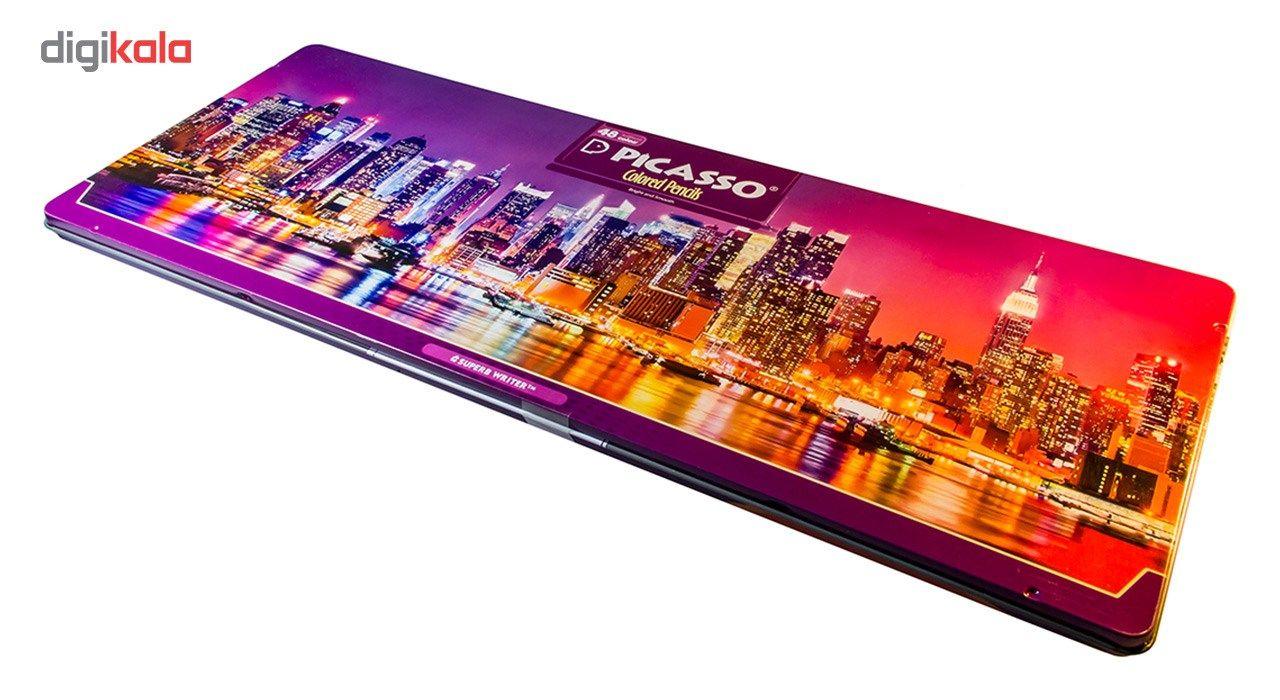 مداد رنگی 48 رنگ پیکاسو مدل Superb Writer طرح نیویورک main 1 3